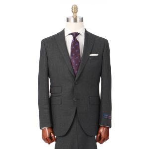 ビジネススーツ/メンズ/秋冬/HAND MADE/2つボタンスーツ 織柄 CH-18 チャコールグレー×ミディアムグレー|uktsc