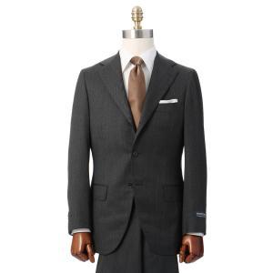 ビジネススーツ/メンズ/秋冬/HAND MADE/3つボタンスーツ 織柄 TR-16 チャコールグレー|uktsc