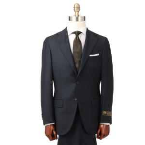 ビジネススーツ/メンズ/秋冬/HAND MADE/3つボタンスーツ マイクロパターン TR-16 ネイビー×ブルー|uktsc