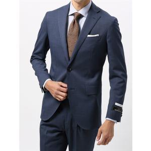 2パンツスーツ/メンズ/通年/TOUGH MAX・ツーパンツ/FIT 2つボタンスーツ 織柄 CH-21 ブルー×ネイビー|uktsc