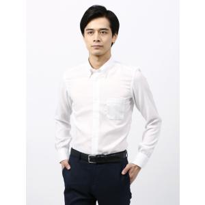 ドレスシャツ/長袖/メンズ/ANTONIO LAVERDA/ボタンダウンカラードレスシャツ 織柄 〔...
