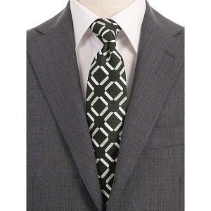 ネクタイ/レギュラータイ/メンズ/ジオメトリック×織柄ネクタイ/Fabric by VANNERS/ ブラック×ライトグレー×ホワイト|uktsc