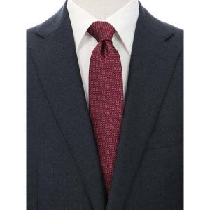 ネクタイ/レギュラータイ/メンズ/blazer's bank.com/織柄フレスコタイ レッド系 uktsc
