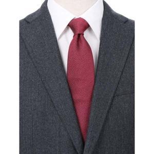 ネクタイ/レギュラータイ/メンズ/blazer's bank.com/織柄ネクタイ レッド系 uktsc