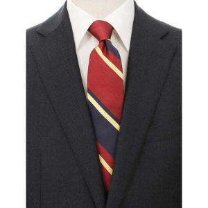 ネクタイ/レギュラータイ/メンズ/blazer's bank.com/ストライプ×織柄ネクタイ レッド系 uktsc
