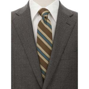 ネクタイ/レギュラータイ/メンズ/blazer's bank.com/ストライプ×織柄ネクタイ ブラウン系|uktsc