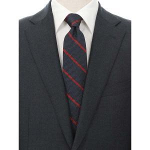 ネクタイ/レギュラータイ/メンズ/blazer's bank.com/ストライプ×織柄ネクタイ ネイビー系 uktsc