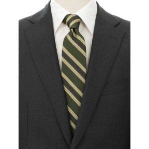 ネクタイ/レギュラータイ/メンズ/blazer's bank.com/ストライプ×織柄ネクタイ グリーン系 uktsc