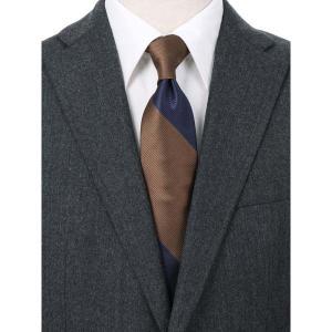 ネクタイ/レギュラータイ/メンズ/blazer's bank.com/ストライプ柄ネクタイ ブラウン系|uktsc