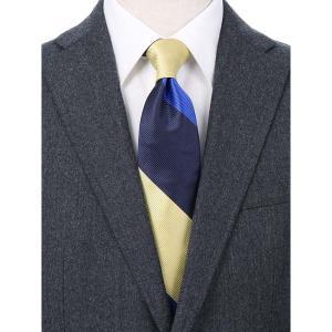 ネクタイ/レギュラータイ/メンズ/blazer's bank.com/ストライプ柄ネクタイ ネイビー系 uktsc