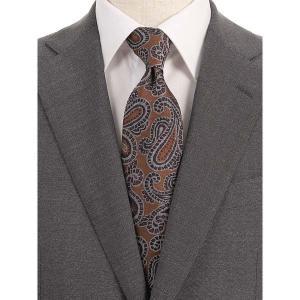 ネクタイ/レギュラータイ/メンズ/blazer's bank.com/ペイズリー×織柄ネクタイ ブラウン×パープル×ホワイト|uktsc