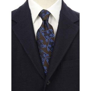 ネクタイ/レギュラータイ/メンズ/blazer's bank.com/総柄ネクタイ/Fabric by ROBERT KEYTE/ ブラウン系|uktsc