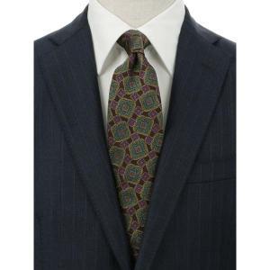 ネクタイ/レギュラータイ/メンズ/blazer's bank.com/パターン柄ネクタイ/Fabric by ENGLAND/ ブラウン系|uktsc