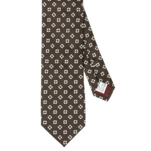 ネクタイ/レギュラータイ/メンズ/blazer's bank.com/小紋柄ネクタイ/Fabric by ENGLAND/ ブラウン系|uktsc