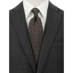 ネクタイ/レギュラータイ/メンズ/blazer's bank.com/小紋柄ネクタイ/Fabric by ENGLAND/ グリーン系|uktsc