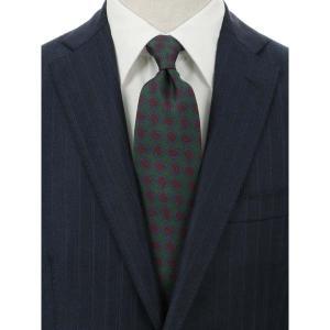 ネクタイ/レギュラータイ/メンズ/blazer's bank.com/ペイズリー柄ネクタイ/Fabric by ENGLAND/ グリーン系|uktsc