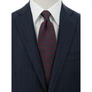 ネクタイ/レギュラータイ/メンズ/blazer's bank.com/ペイズリー柄ネクタイ/Fabric by ENGLAND/ レッド系 uktsc