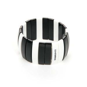 アクセサリー/レディース/CO*STARRING/モノトーンゴムブレスレット ブラック×ホワイト