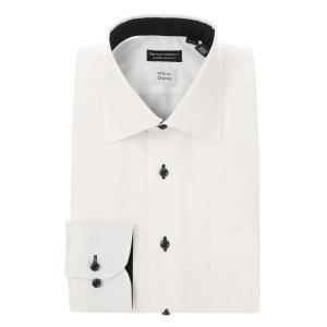 ドレスシャツ/長袖/メンズ/Special sewing/ワイドカラードレスシャツ〔EC・CLASSIC SLIM-FIT〕 ホワイト|uktsc