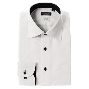 ドレスシャツ/長袖/メンズ/SUPER EASY CARE/ワイドカラードレスシャツ〔EC・CLASSIC SLIM-FIT〕 ホワイト|uktsc