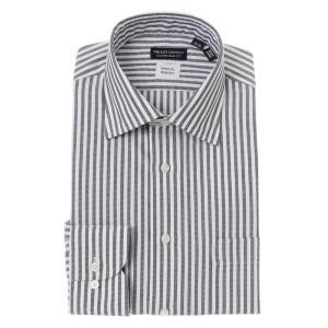 ドレスシャツ/長袖/メンズ/COOL MAX/ワイドカラードレスシャツ 〔EC・CLASSIC SLIM-FIT〕 ネイビー×ホワイト|uktsc