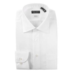 ドレスシャツ/長袖/メンズ/クレリック&ワイドカラードレスシャツ〔EC・CLASSIC SLIM-FIT〕 ホワイト|uktsc