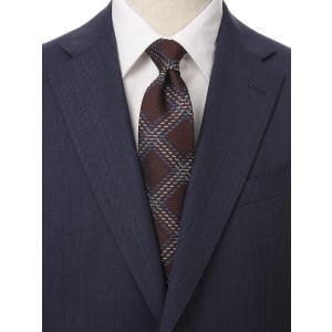 ネクタイ/レギュラータイ/メンズ/British Collection/JAPAN MADE/チェック×織柄ネクタイ レッド系|uktsc
