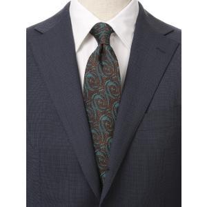ネクタイ/レギュラータイ/メンズ/British Collection/JAPAN MADE/ジオメトリック×織柄ネクタイ ブラウン系|uktsc