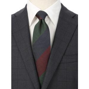 ネクタイ/レギュラータイ/メンズ/British Collection/JAPAN MADE/ストライプ×織柄ネクタイ グリーン系|uktsc