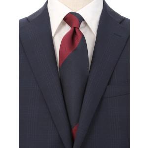 ネクタイ/レギュラータイ/メンズ/British Collection/JAPAN MADE/ストライプ×織柄ネクタイ レッド系 uktsc