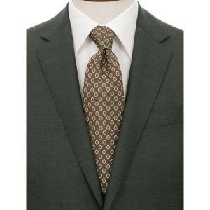 ネクタイ/レギュラータイ/メンズ/ADAMLEY別注/小紋柄ネクタイ グリーン系|uktsc