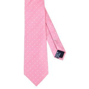 ネクタイ/レギュラータイ/メンズ/ドット×織柄ネクタイ ピンク系|uktsc