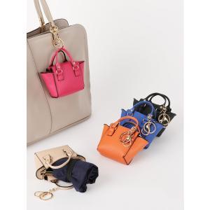 WEB限定 ◆ミニバッグチャーム付きエコバッグ◆ ピンク(色柄コード:PK) ザ・スーツカンパニーPayPayモール店
