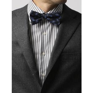 蝶ネクタイ/メンズ/FILO D'ORO/蝶ネクタイ/Fabric by ITALY/ ブラック×ブルー/ペイズリー|uktsc