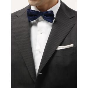 イタリア生地を日本国内で縫製した、安心品質の蝶ネクタイ。シルク100%の艶感は、華やかなパーティーシ...