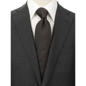 ネクタイ/レギュラータイ/メンズ/FILO D'ORO/ドット×織柄ネクタイ/Fabric by ITALY/ ブラウン系|uktsc