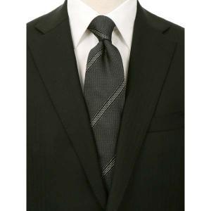 ネクタイ/レギュラータイ/メンズ/FILO D'ORO/ストライプ柄フレスコタイ/Fabric by ITALY/ グレー系 uktsc