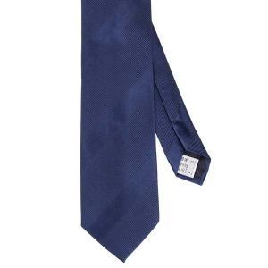 ネクタイ/レギュラータイ/メンズ/FILO D'ORO/シルク&コットン シャドーストライプ柄ネクタイ ブルー系|uktsc