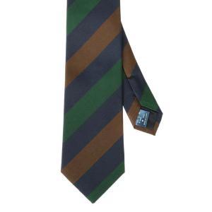 ネクタイ/レギュラータイ/メンズ/FILO D'ORO/ストライプ×織柄ネクタイ ネイビー系|uktsc