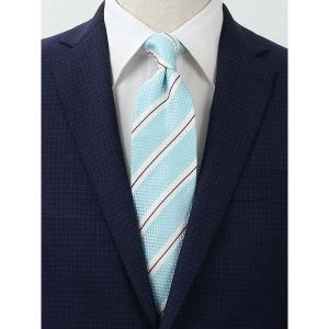 ネクタイ/レギュラータイ/メンズ/FILO D'ORO/ストライプ柄ネクタイ/Fabric by ITALY/ サックスブルー×ホワイト×ネイビー uktsc