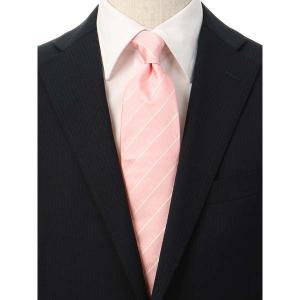 ネクタイ/レギュラータイ/メンズ/FILO D'ORO/ストライプ柄ネクタイ/Fabric by ITALY/ ピンク系|uktsc