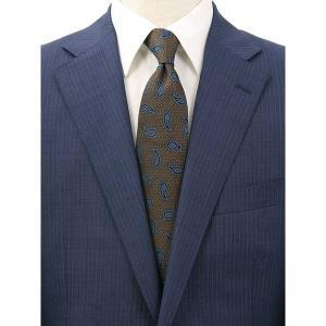 ネクタイ/レギュラータイ/メンズ/FILO D'ORO/ペイズリー×織柄ネクタイ ブラウン×ブラック×ブルー|uktsc