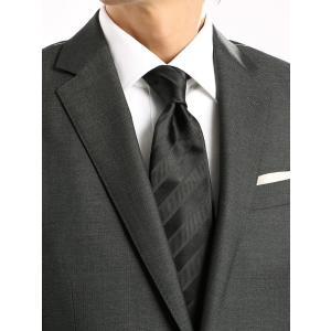 ネクタイ/レギュラータイ/メンズ/シャドーストライプ柄ネクタイ ブラック系|uktsc