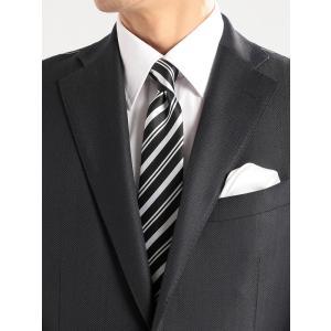 ネクタイ/ナロータイ/メンズ/ストライプ×織柄ナロータイ ブラック系|uktsc