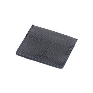 革小物/キーリング/グッズ/メンズ/GLENROYAL/ブライドルレザー スリムカードケース ネイビ...