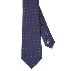 ネクタイ/レギュラータイ/メンズ/セッテピエゲ/ドット柄ネクタイ ピンク系|uktsc