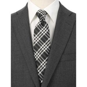 ネクタイ/レギュラータイ/メンズ/チェック×小紋柄ツインネクタイ ブラック系|uktsc
