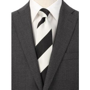 ネクタイ/レギュラータイ/メンズ/ストライプ×ペイズリー柄ツインネクタイ ブラック系|uktsc