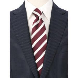 ネクタイ/レギュラータイ/メンズ/ストライプ×織柄 ツインネクタイ レッド系 uktsc