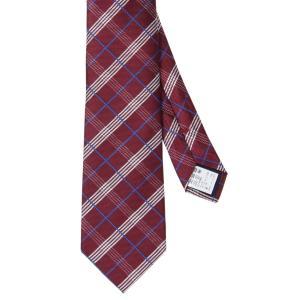 ネクタイ/レギュラータイ/メンズ/チェック柄ネクタイ レッド系|uktsc